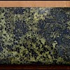 Talc-chlorite-sericite volcaniclastic -- coarsely recrystallized masses of pyrite and chalcopyrite